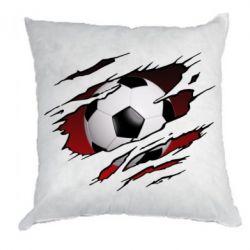 Подушка Football ball  through the T-Shirt