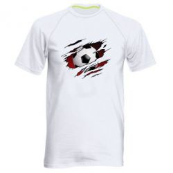 Чоловіча спортивна футболка Football ball  through the T-Shirt