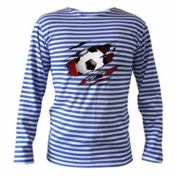 Тільник з довгим рукавом Football ball  through the T-Shirt