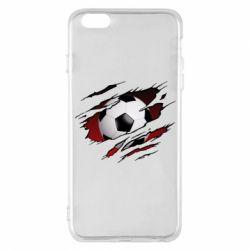 Чохол для iPhone 6 Plus/6S Plus Football ball  through the T-Shirt