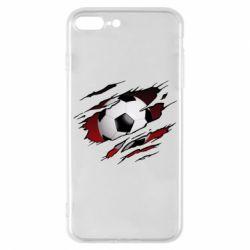 Чохол для iPhone 7 Plus Football ball  through the T-Shirt
