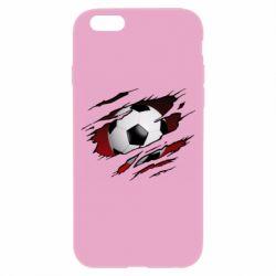 Чохол для iPhone 6/6S Football ball  through the T-Shirt