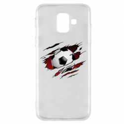 Чохол для Samsung A6 2018 Football ball  through the T-Shirt