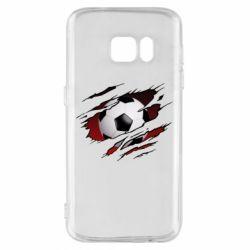 Чохол для Samsung S7 Football ball  through the T-Shirt