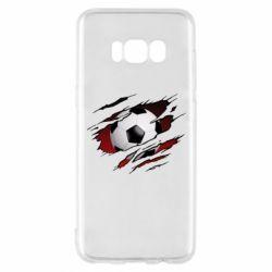 Чохол для Samsung S8 Football ball  through the T-Shirt