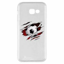 Чохол для Samsung A5 2017 Football ball  through the T-Shirt