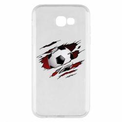 Чохол для Samsung A7 2017 Football ball  through the T-Shirt