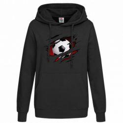 Толстовка жіноча Football ball  through the T-Shirt