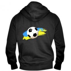 Мужская толстовка на молнии Football of Ukraine