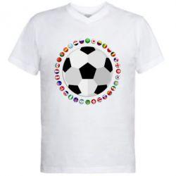 Чоловіча футболка з V-подібним вирізом Football