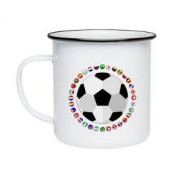 Кружка емальована Football