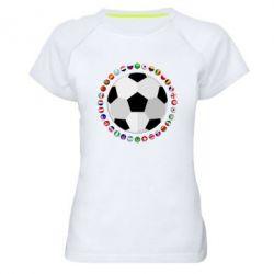 Жіноча спортивна футболка Football
