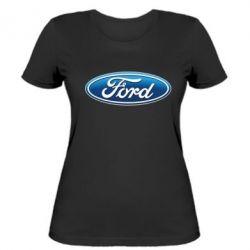 Женская футболка Ford 3D Logo - FatLine