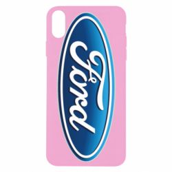 Чехол для iPhone Xs Max Ford 3D Logo