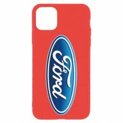 Чехол для iPhone 11 Ford 3D Logo
