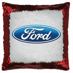 Подушка-хамелеон Ford 3D Logo