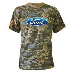 Камуфляжная футболка Ford 3D Logo - FatLine