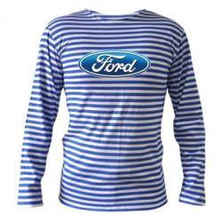 Тельняшка с длинным рукавом Ford 3D Logo - FatLine