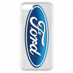 Чехол для iPhone 8 Ford 3D Logo
