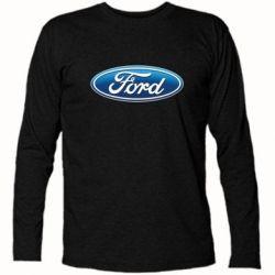 Футболка с длинным рукавом Ford 3D Logo - FatLine