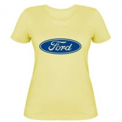 Женская футболка Ford Logo
