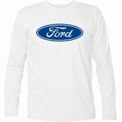 Футболка с длинным рукавом Ford Logo - FatLine