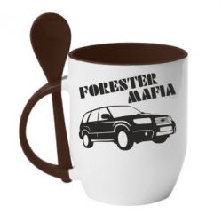 Кружка с керамической ложкой Forester Mafia
