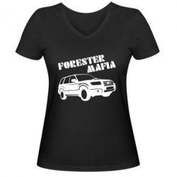 Женская футболка с V-образным вырезом Forester Mafia