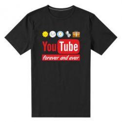 Чоловіча стрейчева футболка Forever and ever emoji's life youtube