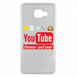 Чохол для Samsung A7 2016 Forever and ever emoji's life youtube