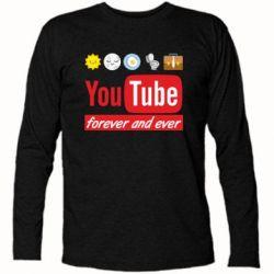 Футболка з довгим рукавом Forever and ever emoji's life youtube