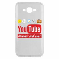 Чохол для Samsung J7 2015 Forever and ever emoji's life youtube