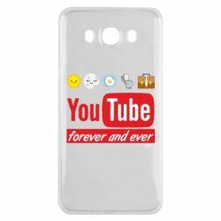 Чохол для Samsung J7 2016 Forever and ever emoji's life youtube