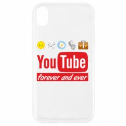 Чохол для iPhone XR Forever and ever emoji's life youtube