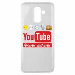 Чохол для Samsung J8 2018 Forever and ever emoji's life youtube