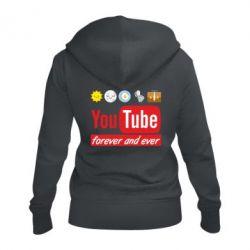 Жіноча толстовка на блискавці Forever and ever emoji's life youtube