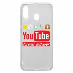 Чохол для Samsung A20 Forever and ever emoji's life youtube