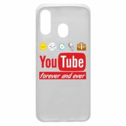Чохол для Samsung A40 Forever and ever emoji's life youtube