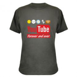 Камуфляжна футболка Forever and ever emoji's life youtube