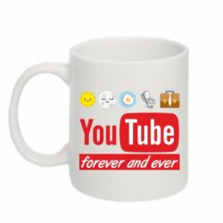 Кружка 320ml Forever and ever emoji's life youtube