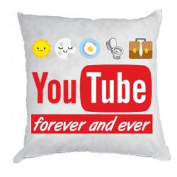 Подушка Forever and ever emoji's life youtube