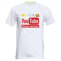 Чоловіча спортивна футболка Forever and ever emoji's life youtube