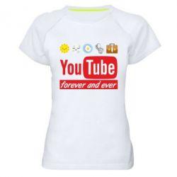 Жіноча спортивна футболка Forever and ever emoji's life youtube