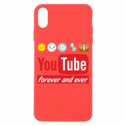 Чохол для iPhone X/Xs Forever and ever emoji's life youtube