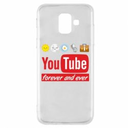 Чохол для Samsung A6 2018 Forever and ever emoji's life youtube
