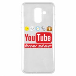 Чохол для Samsung A6+ 2018 Forever and ever emoji's life youtube