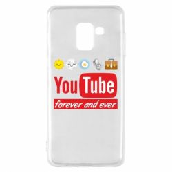 Чохол для Samsung A8 2018 Forever and ever emoji's life youtube