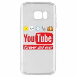 Чохол для Samsung S7 Forever and ever emoji's life youtube