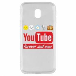 Чохол для Samsung J3 2017 Forever and ever emoji's life youtube