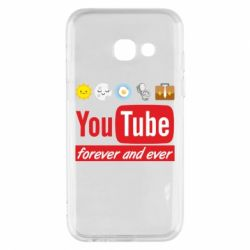 Чохол для Samsung A3 2017 Forever and ever emoji's life youtube
